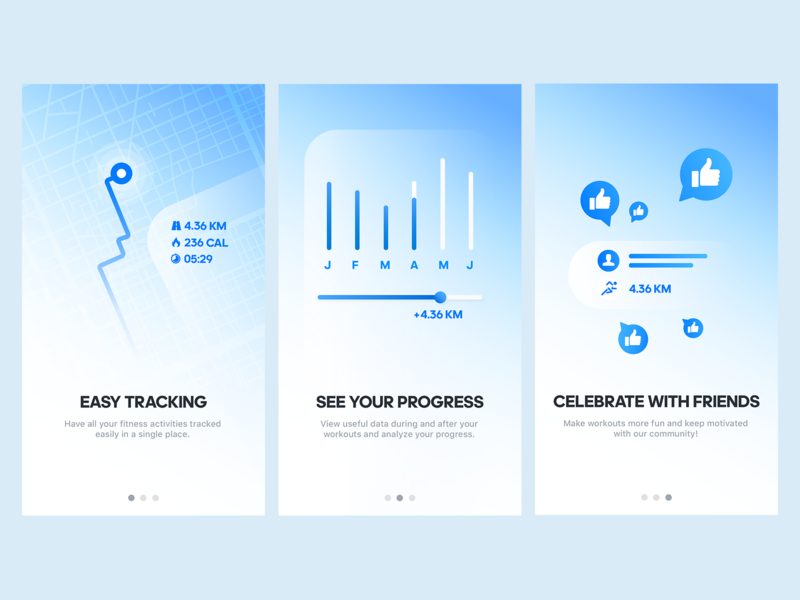 Runtastic Onboarding Tour Illustrations onboarding screen runtastic app mobile ux onboarding illustration