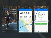 Runtastic App Store Screenshots Design