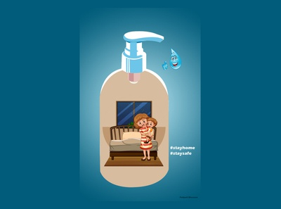 #Stayhome #Staysafe vector illustration illustrator photoshop graphicdesign vector design art illustration