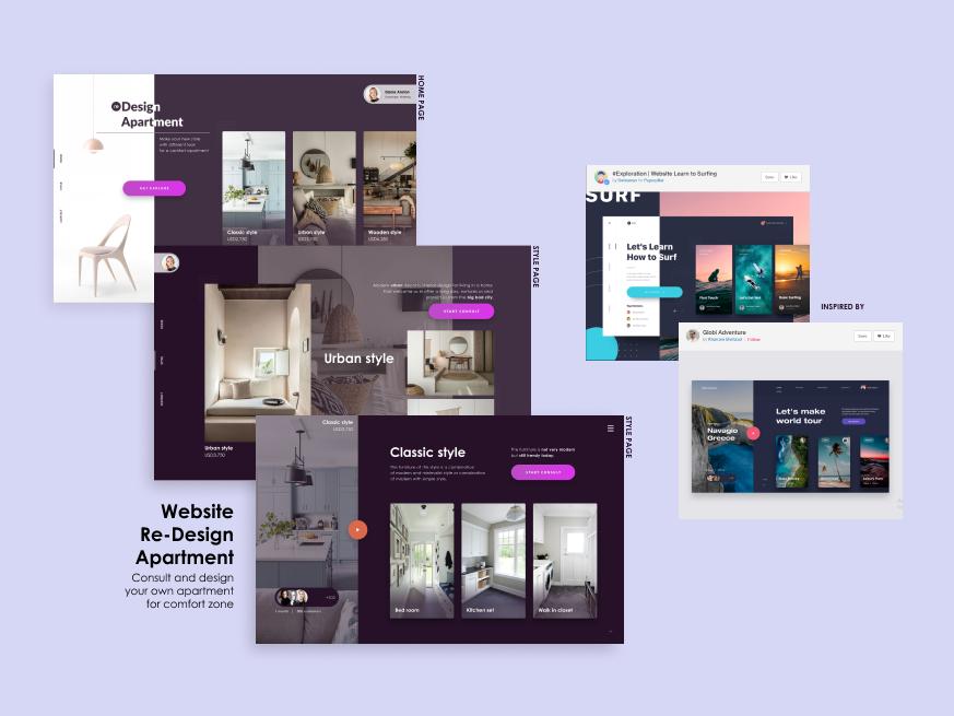 Re-Design Apartment ux design web ui