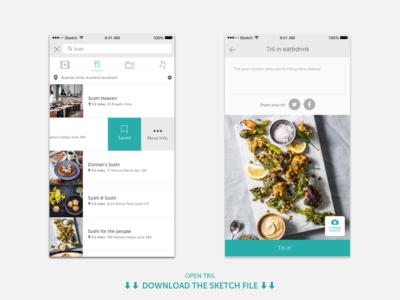 Tril | Composer ui tril social sketch post composer mobile ios file download app