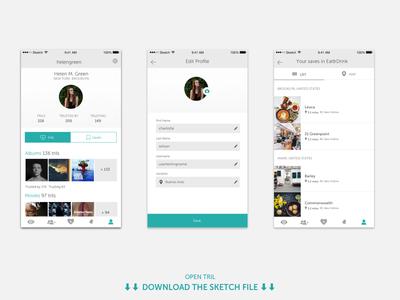 Tril | User profile app ui ios mobile profile userprofile