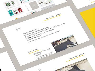 Branding | Personal website ux portfolio monogram ui