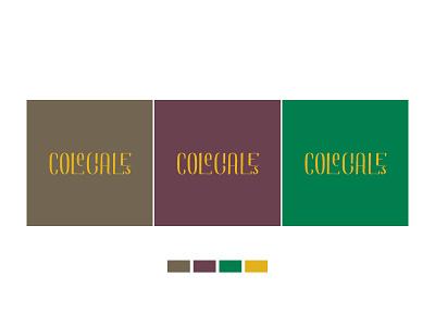 Branding | Colegiales Neighborhood color scheme personal hood calligraphy branding
