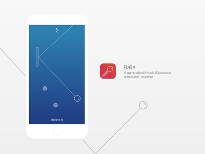 Balle | A musical game gradient gamification app ios game ui