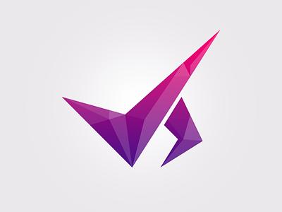 Js Logo logo polygonal crystal gradient identity js
