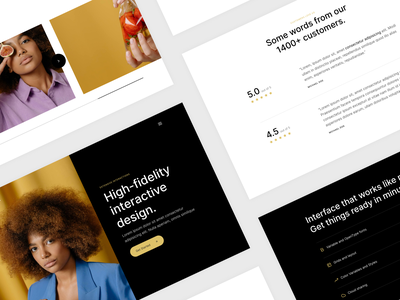 Product Page carousel reviews product page creative template landing page product