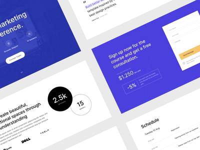 New Blocks bootstrap course conference event ui kit template