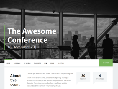 Dialog - Event landing page
