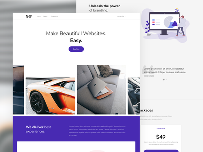 GO - Service Landing Page modern clean minimal homepage landing page service