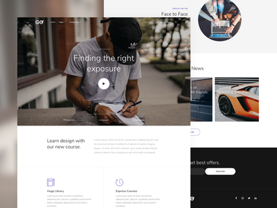 GO - Education Landing Page template modern clean landing page education learning