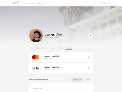 User Dashboard - Payments clean minimal user account user dashboard payments billing