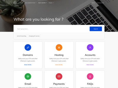 Guidebook - Online Documentation Template guide minimal clean bootstrap 4 template help center docs documentation