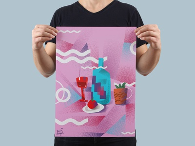 Pink still life. Poster animation love day fictional branding comicsart concept bookillustration digitalillustration illustration design flat graphic art digitalart identity website illustrator web graphicdesign lettering type