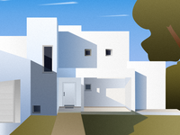 Building flat illustration
