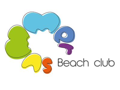 Logo for beach club