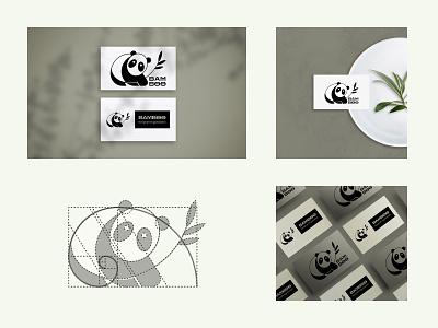 Cute Panda Logo Design Challenge dailylogochallenge typography flat minimal branding icon color vector illustration logo