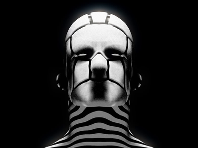 MSK eye daily render loop aftereffects cinema4d illustraion human man edge repeater eyes 3d stripes zebra head face mask motiongraphics