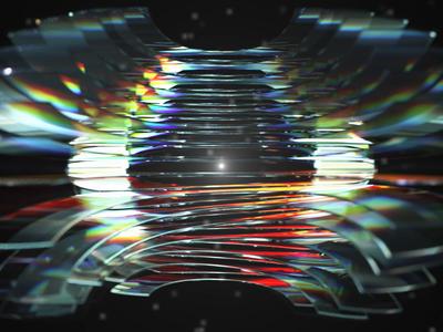 Geex Arts logo animation futuristic mograph cloner closeup macro glass dispersion refraction reflection render bokeh download freebie free wallpaper 4k c4d cinema4d motion design