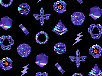 Objects pyramid cube sphere circle icosahedron geometry pattern psychedelic iridescent trippy motiongraphics loop 3d animation acid c4d cinema4d
