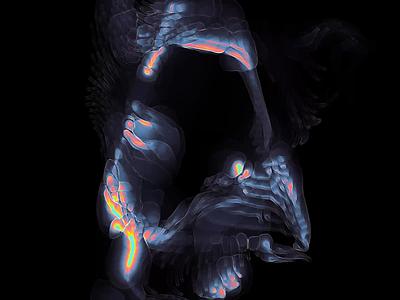 Portable Reef generative procedural touchdesigner cryptoart nftart nft reef underwater macro organic glyph letter g z a diffusion iridescent metamodern acid graphics typogaphy