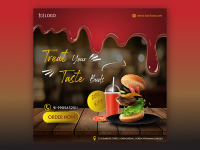 Food Business - Banner Mock-up graphic design photoshop landing page food dailyui illustrator animation flat minimal web design app icon typography ux vector branding ui logo illustration design