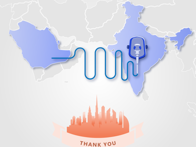 Thanks from India to the UAE thankyou uae news dubai designer vector vaccination covid-19 oxygen india uae creative designer dailyui branding graphic designer creative design ui illustration graphic design design