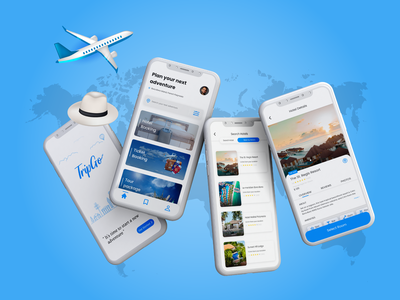 TripGO - Let The World Travel With Your App hotel android ios android app app design dark ui travel app web design and development app web design dailyui creative designs creative design branding ux illustration graphic designer ui graphic design design