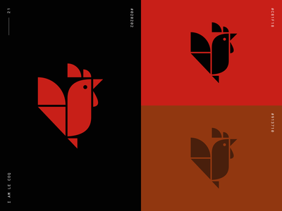 I AM LE COQ design minimal brand identity illustration icon flat vector logo logomark branding
