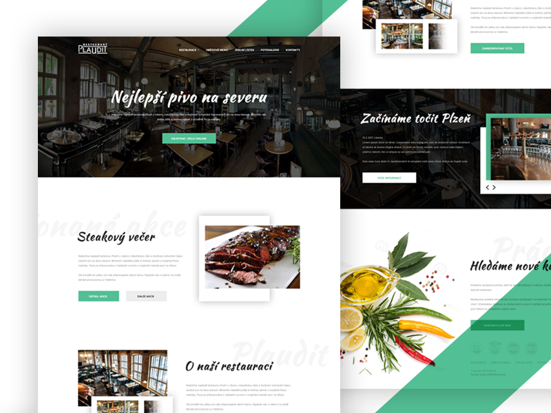 Restaurant website cooking page landing grill dinner homepage website food restaurant ux ui webdesign