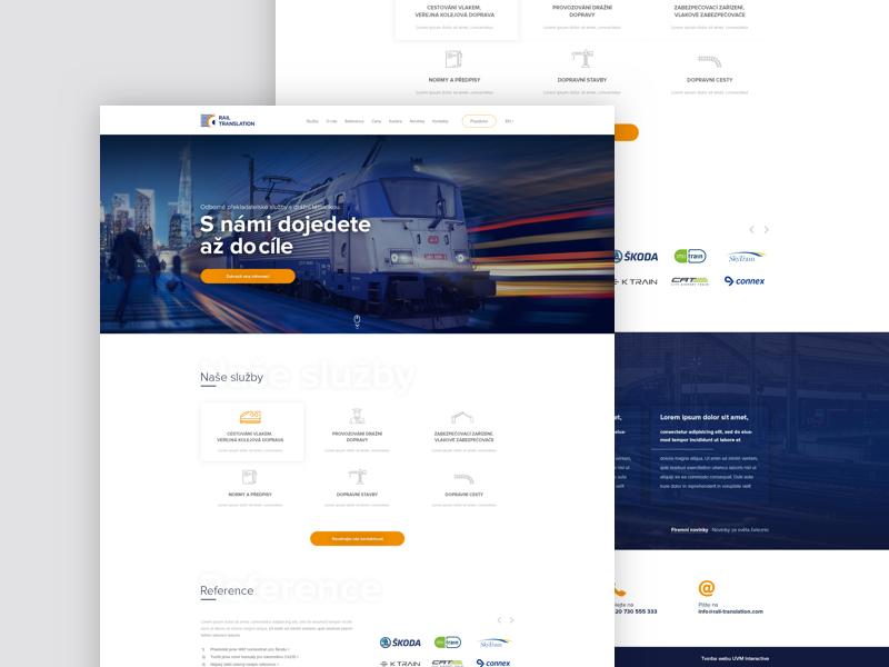 Rail company webdesign