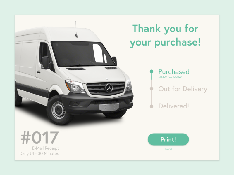 017   E Mail Receipt ux daily ui vector 100 day ui challenge dailyui daily 100 challenge 100 days of ui minimal ui design