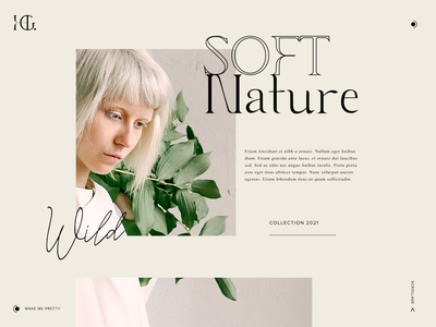 Damaged Beauty Collection beige pink cream typography ux branding ui logo web design beauty nature fashion