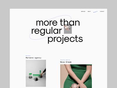 Portfolio of creative agency creative portfolio website design branding typography web landing