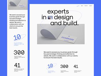 Creative agency clean minimal concept agency creative website typography vector ux landing web ui branding design