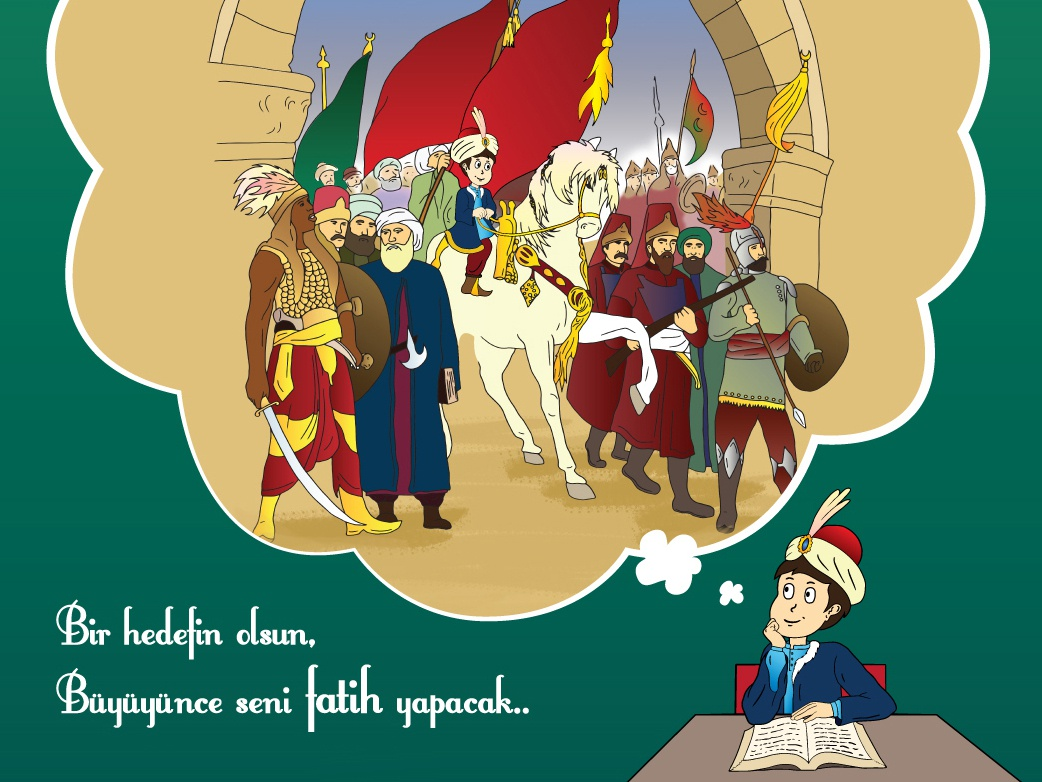 conquest / magazine cover illustration conquest dream child wacom ottoman photoshop magazi̇ne cover chi̇ldren i̇llustrati̇on osmanlı çocuk dergisi i̇stanbulun fethi̇ fati̇h sultan mehmet feti̇h 1453