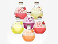 iksir fruit soda • packaking design