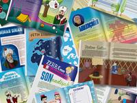 children's magazine • page designs n illustrations