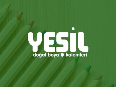 logo • yeşil natural color pencils
