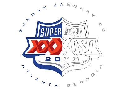 Bowl Anniversary Project screenprint hot stamp illustrator illustrated line art vectorize logos football super bowl