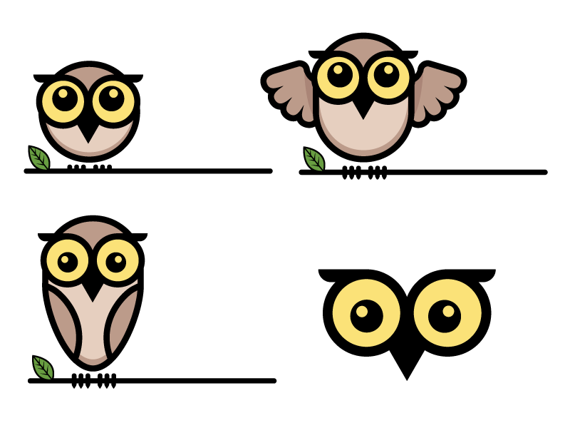 Owlets Mascots birds illustration ai illustrator owls