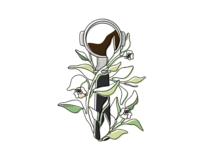 Filter Holder For Coffee Machine concept coffee machine filter holder coffee sticker branding print icon logo vector design flat illustration art