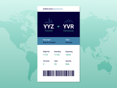 024 Boarding Pass ui boardingpass dailyuichallenge dailyui