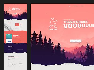 Lycanthrop' design branding web illustration