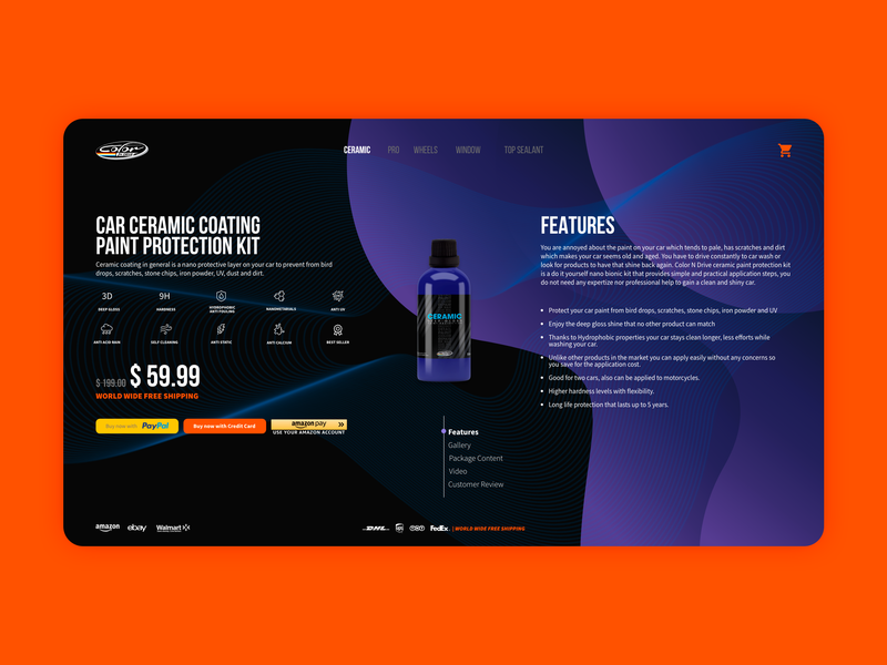 Product Page - Features ( Color N Drive )