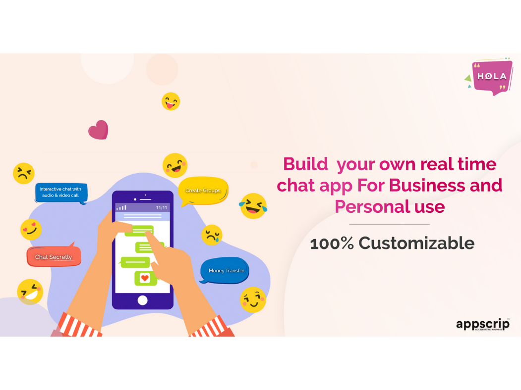 Build your own real chat app for business & personal use design web app