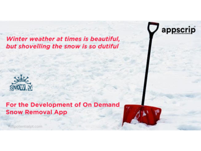 Get into the business of on-demand snow removal services