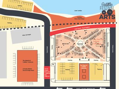 Cadillac Festival of the Arts Vendor Map