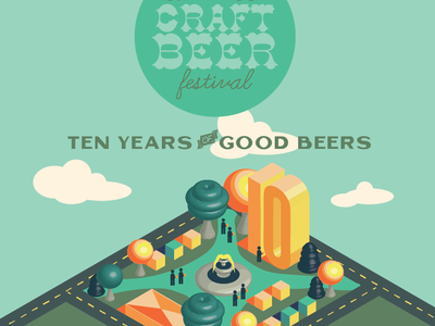 Craft Beer Festival Illustration and Poster