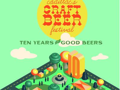 Final Craft Beer Festival Poster, Cadillac, Michigan